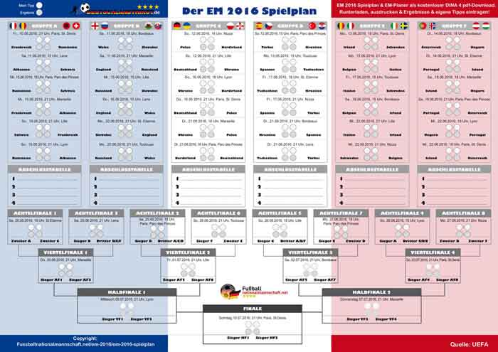 Den EM 2015 Spielplan als pdf jetzt runterladen!