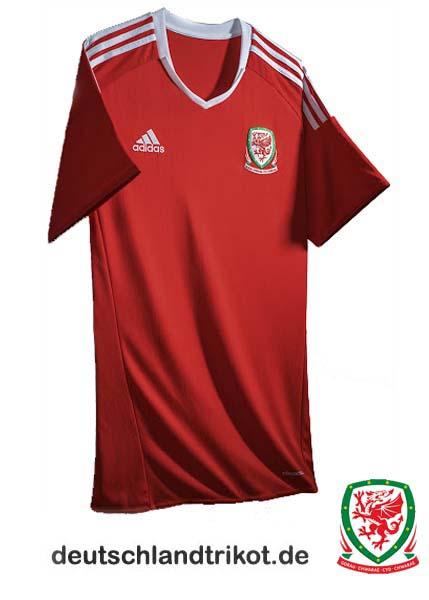 T-Shirt Wales Fahne Flagge 2016 EM Trikot Shirt für Fans mit Tickets Euro