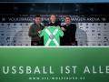 Andrè Schürrle bei der Vorstellung beim VfL Wolfsburg