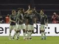 DFB-Spieler feiern das zweite Tor gegen England am 26.März.2016 / AFP / TOBIAS SCHWARZ