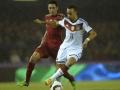 Karim Bellarabi im 4-Sterne DFB-Trikot beim Freundschaftsspiel gegen Spanien am 18.11.2014 (Foto AFP)