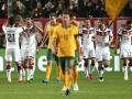 Deutschland feiert das 1:0 gegen Australien am 25.03.2015 (AFP PHOTO / DANIEL ROLAND)