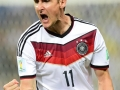 Miroslav Klose beim Torjubel im Vorrundenspiel gegen Ghana bei der WM 2014 (AFP PHOTO / JAVIER SORIANO)
