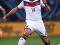Oliver Sorg im Deutschland Trikot beim Länderspiel gegen Polen (AFP PHOTO / PATRIK STOLLARZ)