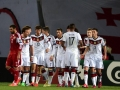 Deutschland bejubelt das 2:0 gegen Georgien im März 2015  (AFP PHOTO / PATRIK STOLLARZ)