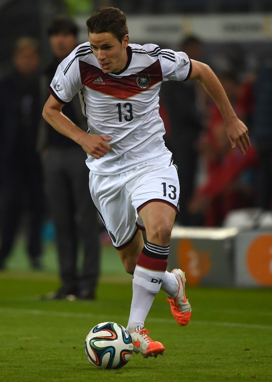 Christian Guenterim DFB Trikot gegen Polen (Foto AFP)