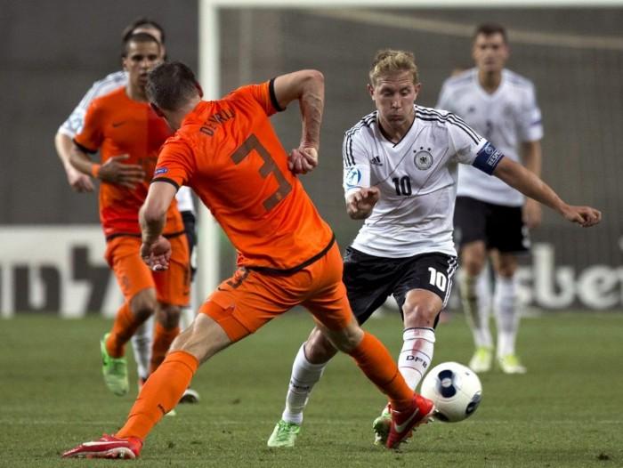 Lewis Holtbybeim 2013 UEFA U-21 Championship group B football gegen die Niederlande (Foto AFP)