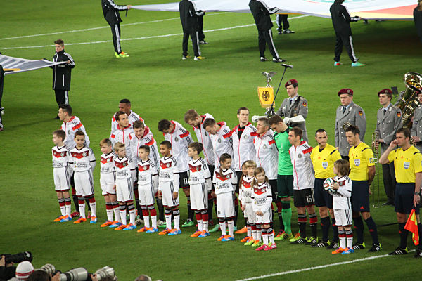 Einlaufkinder beim DFB Länderspiel Deutschland gegen Chile : DFB Kindertrikots (Quelle: eigenes Archiv)