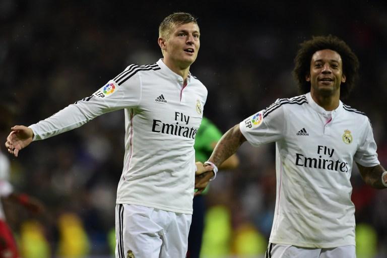 Toni Kroos ist eine feste Stammkraft bei Real Madrid und in der deutschen Nationalmannschaft - zumindest im DFB-Trikot der wertvollste Spieler. AFP PHOTO/ JAVIER SORIANO