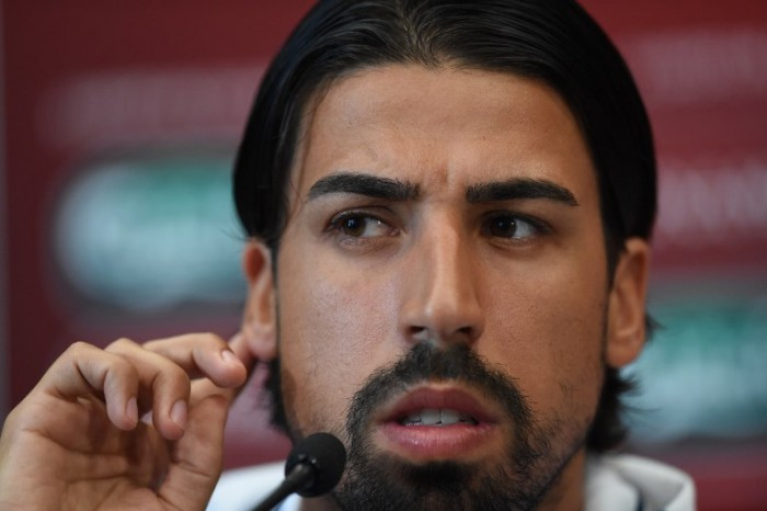 Sami Khedira bei der Pressekonferenz am 12.Juni 2015 am Vorabend zum EURO 2016 group D qualifying football match Gibraltar gegen Germany. AFP PHOTO/ FRANCISCO LEONG