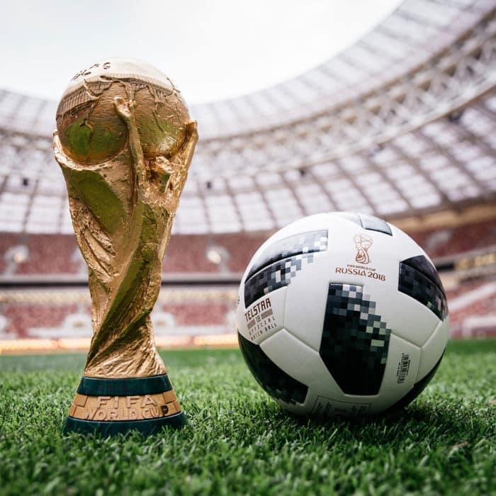"""Der neue WM Spielball 2018 """"Telstar18"""" von adidas."""