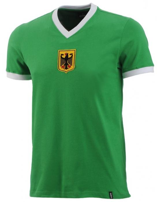 Das Retrotrikot der WM 1970 in grün von Deutschland.