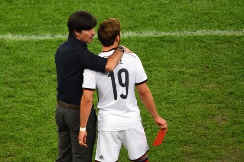 Joachim Löw & Mario Götze bei der WM 2014 (Foto AFP)