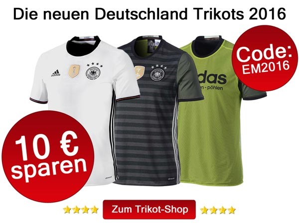 Die neuen Deutschland Trikots 2016
