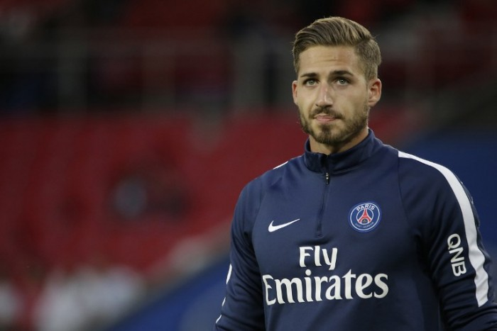 Paris Saint-Germain's Torwart Kevin Trapp am 11.September 2015. AFP PHOTO / KENZO TRIBOUILLARD