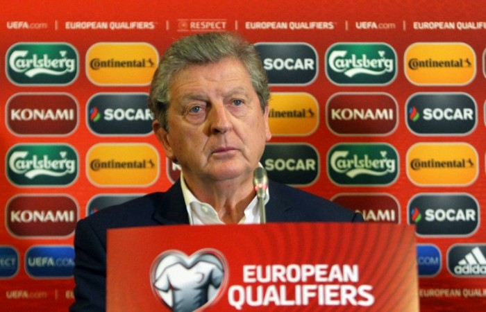England's manager Roy Hodgson attends a press conference at The Novotel Hotel in Vilnius on October 11, 2015, on the eve of the UEFA Euro 2016 qualifying football match between Lithuania and England. AFP PHOTO / PETRAS MALUKAS