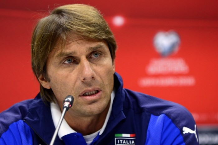 Italy's coach Antonio Conte attends a press conference in Baku on October 9, 2015 on the eve of the UEFA Euro 2016 Group H qualifying football match between Azerbaijan and Italy. AFP PHOTO / TOFIK BABAYEV
