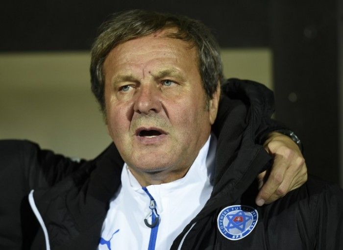 Slovakia's head coach Jan Kozak poses during the UEFA Euro 2016 Group C qualifying football match between Luxembourg and Slovakia at the Josy Barthel Stadium, on October 12, 2015 in Luxembourg. AFP PHOTO / JOHN THYS