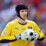 Czech goalkeeper Petr Cech hols the ball  during the Euro 2008 Championships Group A football match Czech Republic vs. Portugal on June 11, 2008 at Stade de Geneve in Geneva, Switzerland.   AFP PHOTO  PIERRE-PHILIPPE MARCOU  -- MOBILE SERVICES OUT --