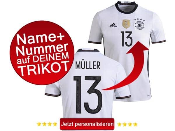 Jetzt dein DFB Trikot personalisieren
