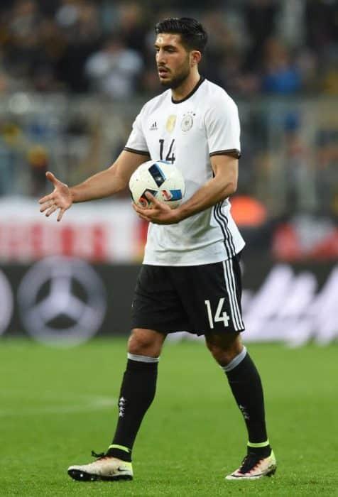 DFB-Spieler Emre Can im DFB Trikot bei der Fußball WM 2016 mit der Nummer 14. AFP / CHRISTOF STACHE