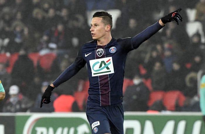 Paris Saint-Germain's Spieler Julian Draxler war beim Confed Cup 2017 der wertvollste Spieler im DFB-Trikot / AFP PHOTO / ALAIN JOCARD