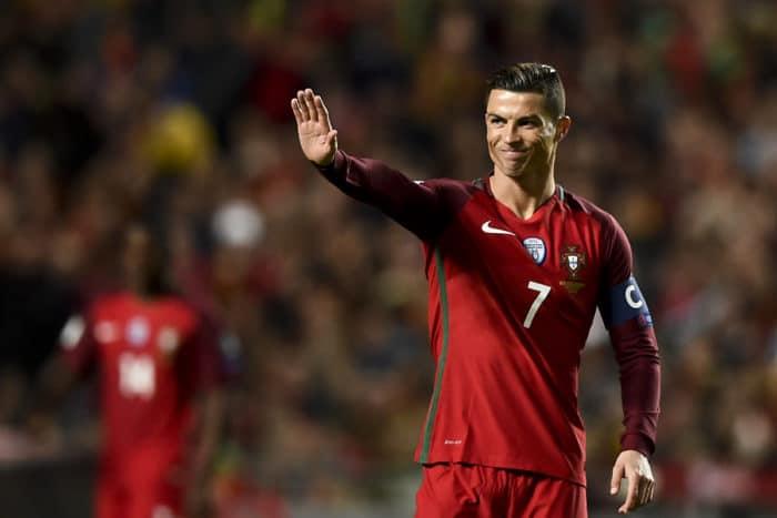 Portugal's Stürmer Cristiano Ronaldo gegen Ungarn am 25.März 2017. / AFP PHOTO / PATRICIA DE MELO MOREIRA