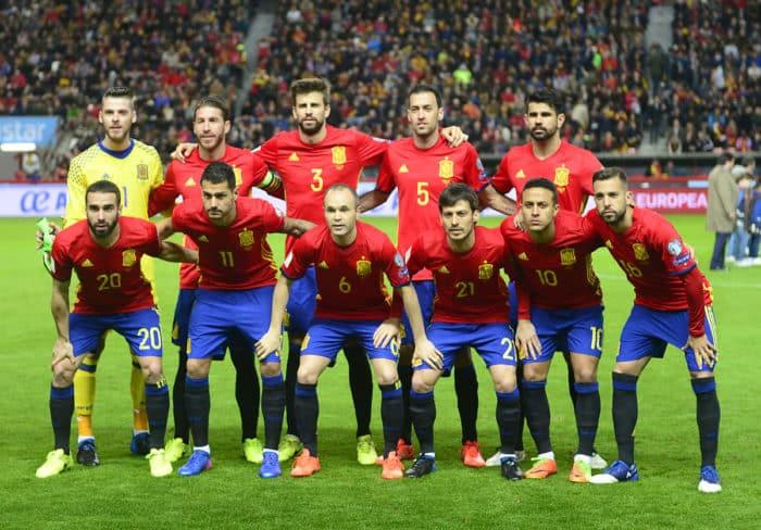 Spaniens Nationalmannschaft gegen Israel in der WM-Qualifikation am 24.März 2017. / AFP PHOTO / MIGUEL RIOPA