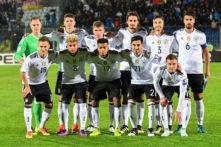 Startaufstellung Deutschlands gegen San Marino (Foto AFP)
