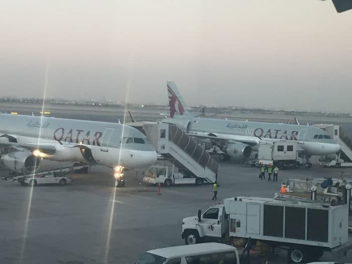 Katar - vor allem bekannt durch die staatliche Fluglinie Qatar Airways (Foto: eigenes Archiv)