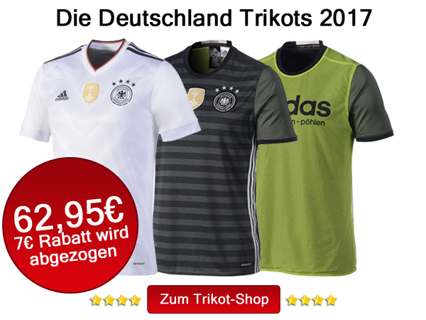Die aktuellen Deutschland Trikots 2017 kaufen