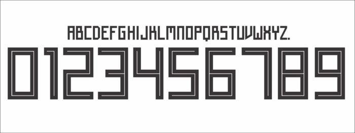 Die neue Schriftart für das DFB Trikot 2018 erinnert an russische Sowjetzeiten.