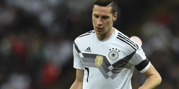 Julian Draxler im neuen DFB Trikot 2018 beim Länderspiel Deutschland gegen England (Foto AFP)