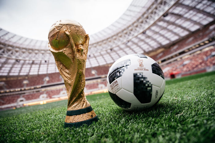 Telstar 18 - der neue Spielball 2018 der Fußball WM 2018 in Russland.