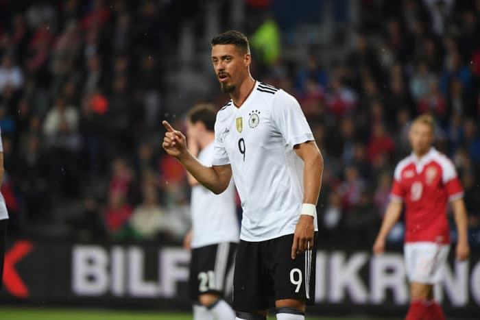 Sandro Wagner beim Länderspiel gegen Dänemark am 6.Juni 2017. / AFP PHOTO / PATRIK STOLLARZ