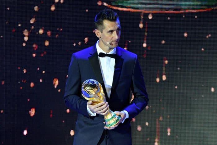 WM-Torschützenkönig Miroslav Klose im Moskauer Kremlin am 1. Dezember 2017 bei der 2018 FIFA World Cup Auslosung. Mladen ANTONOV / AFP
