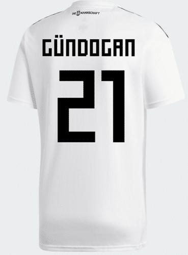 Das DFB Trikot 2018 von Ilkay Gündogan mit der Rückennummer 21