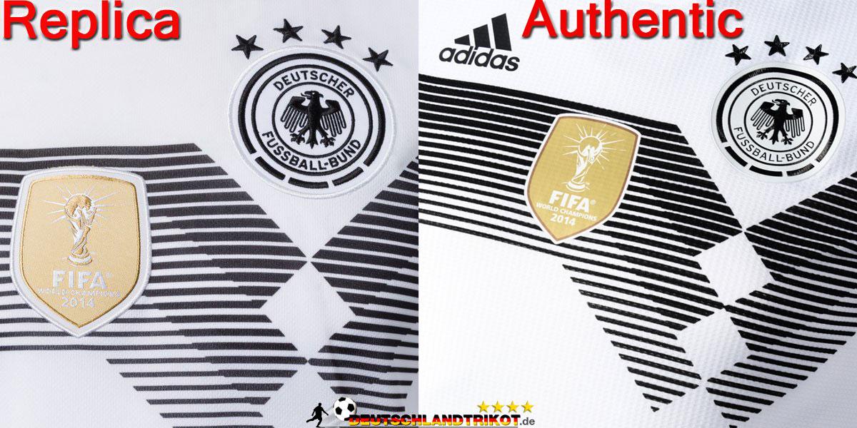 Unterschiede Trikots: Replica Authentic Matchworn DFB