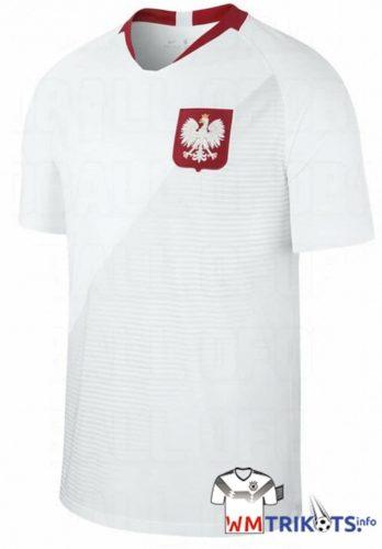 Das neue weiße Heimtrikot von Polen 2018 von nike.