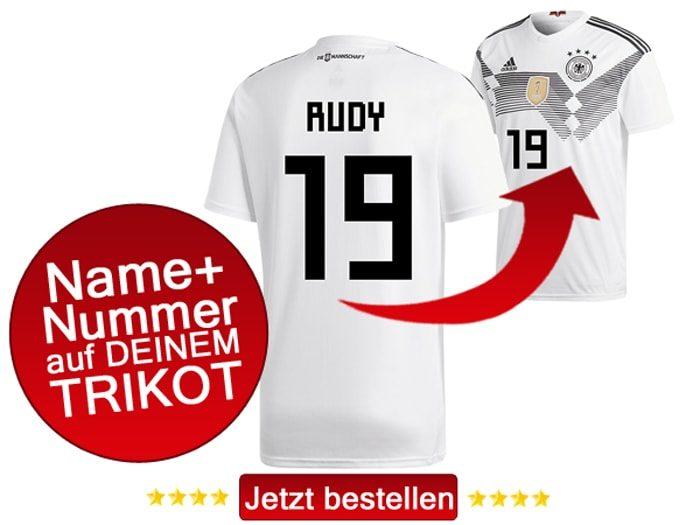 Das neue DFB Trikot mit Beflockung von Sebastian Rudy mit der Nummer 19 kaufen.
