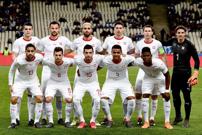 Die Schweizer Nati in den neuen WM Trikots 2018 von Puma (Foto AFP)
