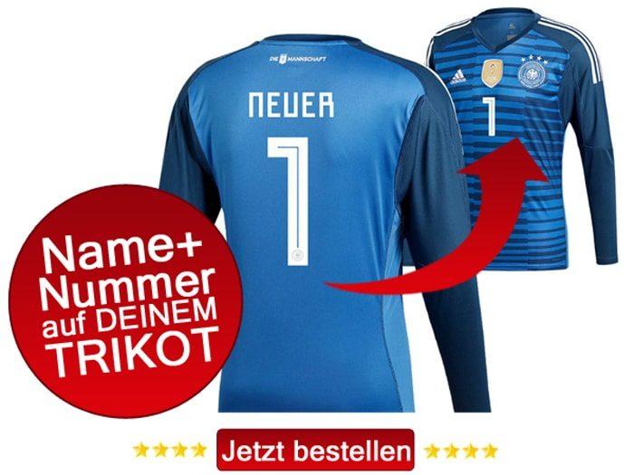 Das neue Trowart DFB Trikot von Manuel Neuer 2018.