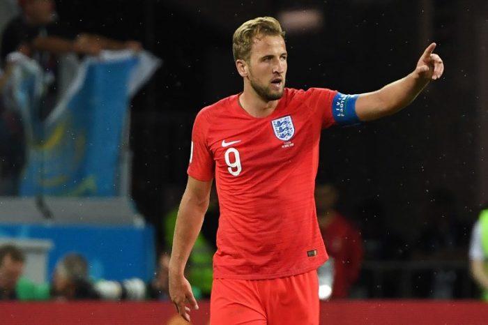 England's Stürmer Harry Kane schießt beide Tore gegen Tunesien in Volgograd am 18.Juni 2018. / AFP PHOTO / Mark RALSTON /