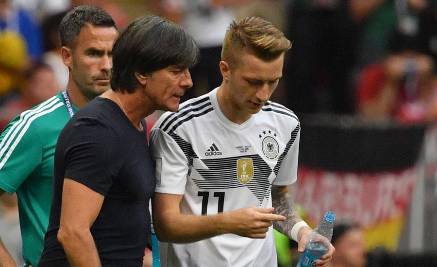 Marco Reus mit der DFB Rückennummer 11 wird in der 60.Spielminute des 1.Vorrundenspiels gegen Mexiko eingewechselt. (Foto AFP)