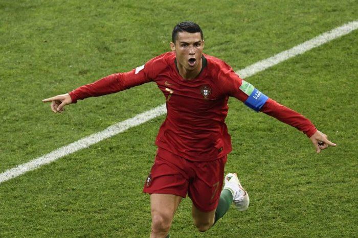 Portugal's Stürmer Cristiano Ronaldo hat einen Lauf bei der Fußball WM 2018 - schon vier Tore in zwei WM-Spielen erzielt!. / AFP PHOTO / Jonathan NACKSTRAND