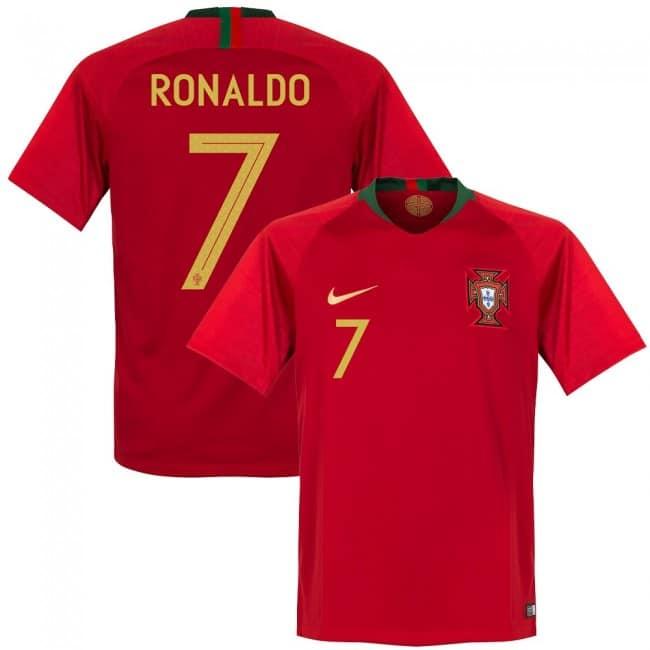 Das neue Christiano Ronaldo CR 7 Trikot von Portugal von nike 2018.