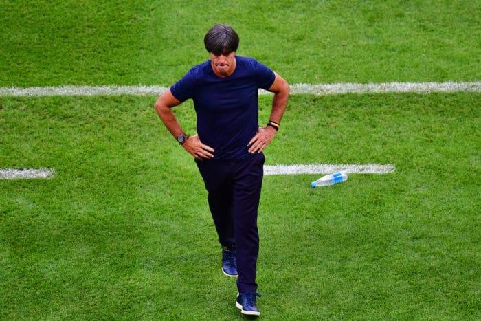 Joachim Löw nach dem Ausscheiden in Kazan am 27.Juni 2018 nach dem 0:2 gegen Südkorea. / AFP PHOTO / Luis Acosta