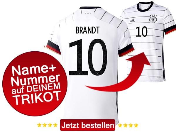 Die Nummer 10 auf dem deutschen DFB Trikot 2020 trägt Julian Brandt!