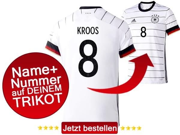 Die Nummer 8 von Toni Kroos kaufen! Das neue DFB Trikot 2020