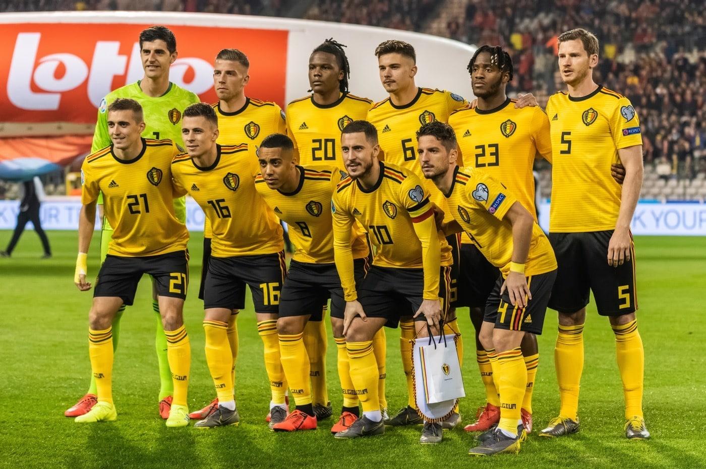 Die belgische Nationalmannschaft ist Favorit in der EM Endrundengruppe B (Foto Shutterstock)